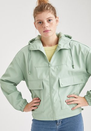 Faux leather jacket - turquoise