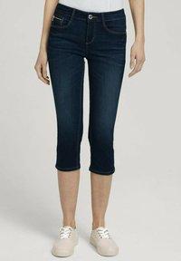 TOM TAILOR - Denim shorts - used mid stone blue denim - 0