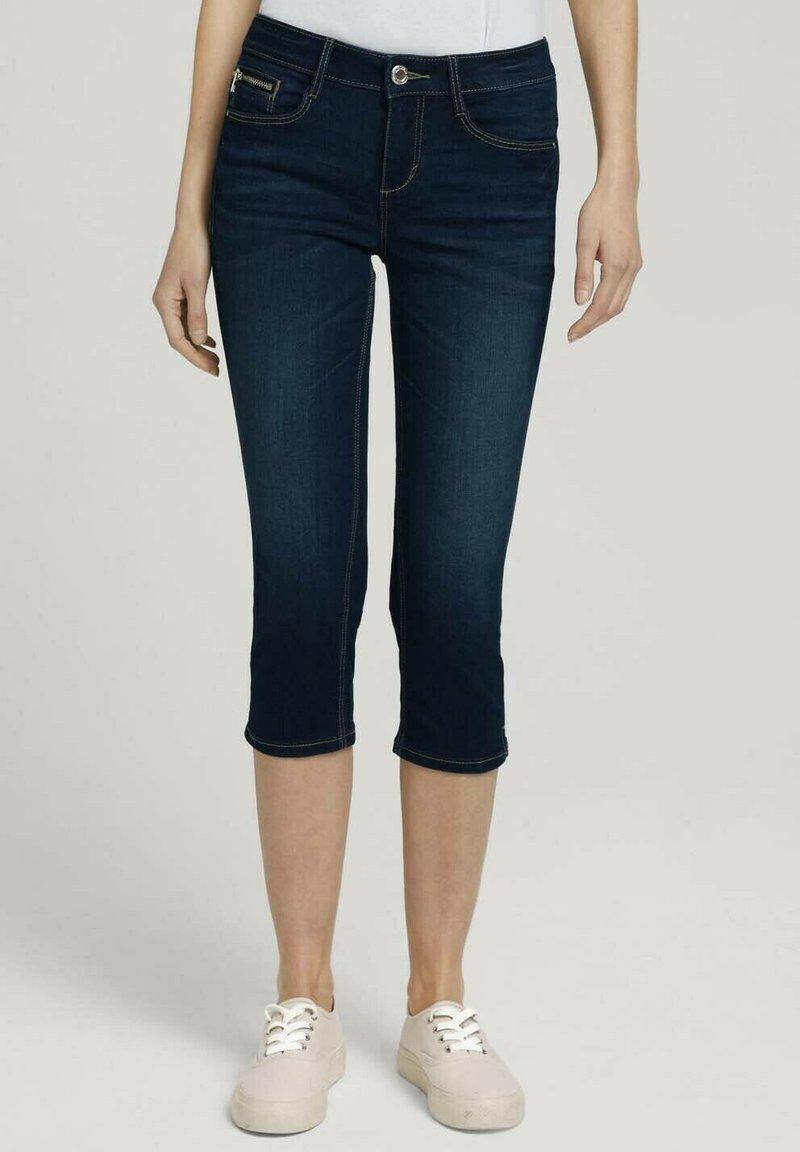 TOM TAILOR - Denim shorts - used mid stone blue denim