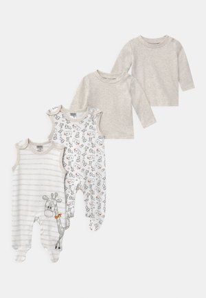 2 PACK UNISEX - Pyjama set - white/beige
