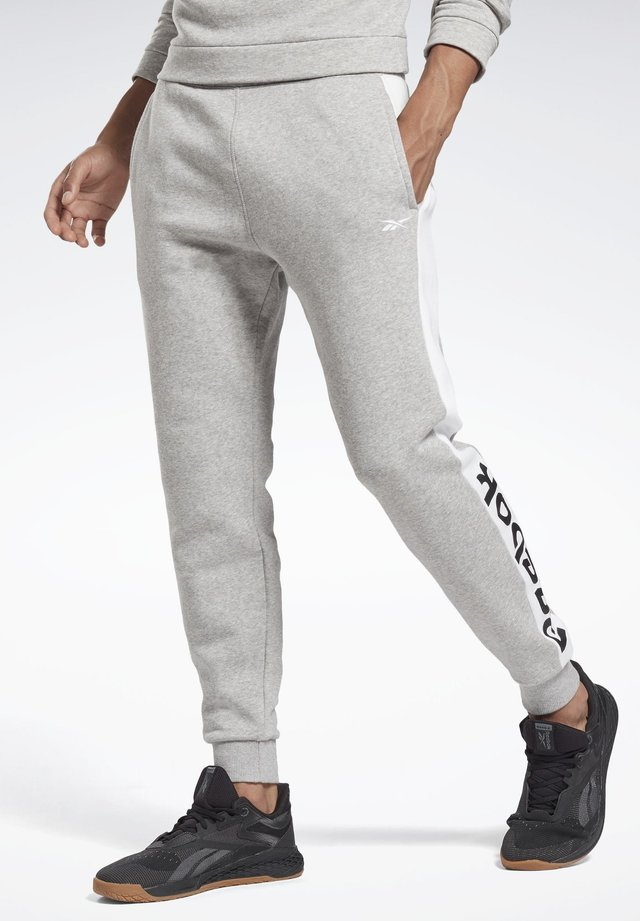 TRAINING ESSENTIALS LINEAR LOGO JOGGERS - Pantaloni sportivi - grey