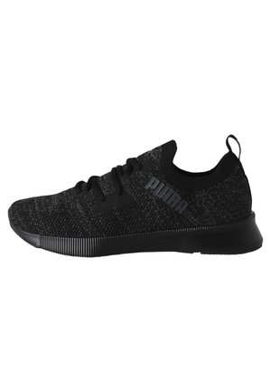 PUMA FLYER RUNNER ENGINEERED KNIT MEN'S RUNNING SHOES MALE - Trainers - puma black-asphalt