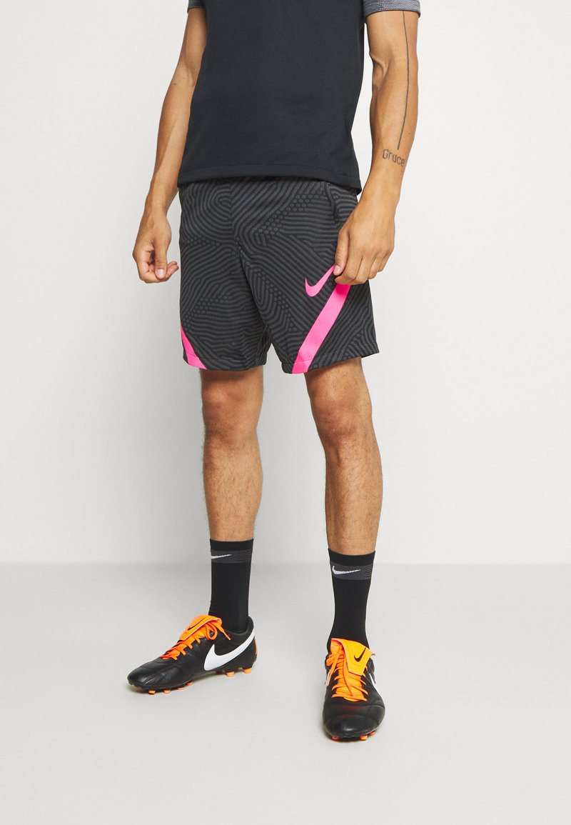 Nike Performance - DRY STRIKE SHORT - Sportovní kraťasy - black/anthracite/hyper pink