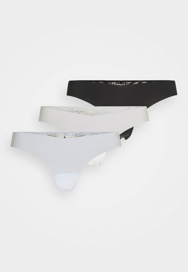 LIN NO SHOW THONG 3 PACK - Thong - white/blue/black