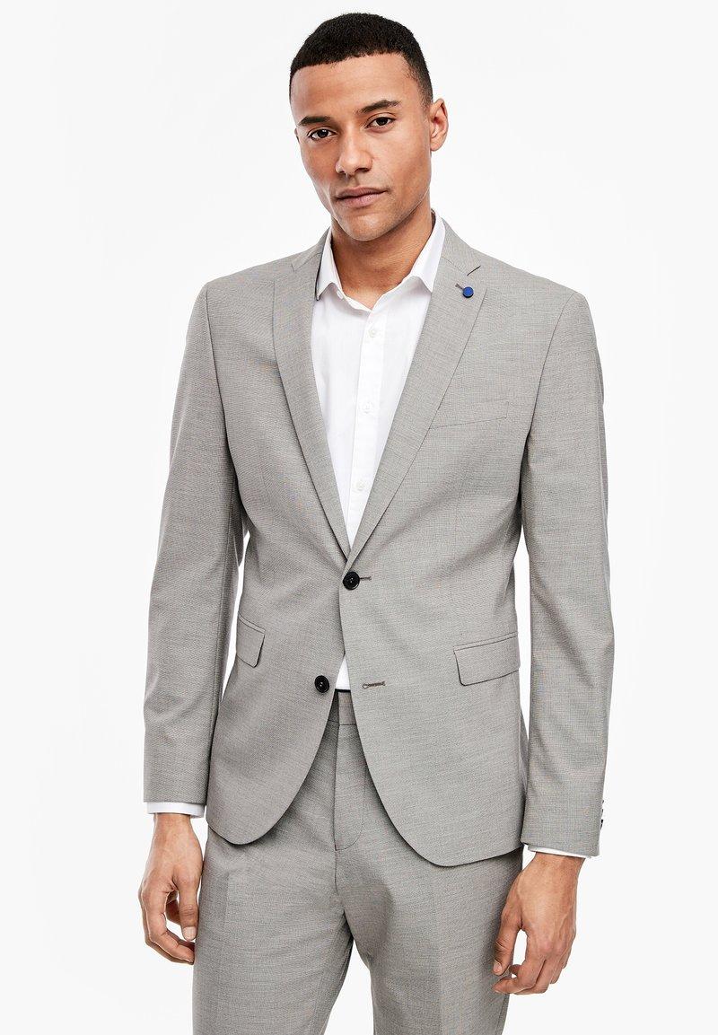 s.Oliver BLACK LABEL - MIT WEBSTRUKTUR - Blazer jacket - beige