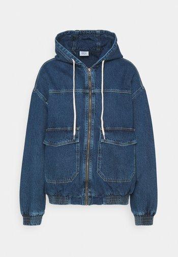HOODED SKATE JACKET - Veste en jean - dark vintage