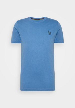 SLIM FIT ZEBRA - Basic T-shirt - blue