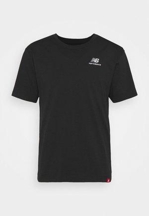 ESSENTIALS EMBROIDERED TEE - Basic T-shirt - black