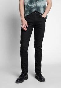 Nudie Jeans - LEAN DEAN - Jeans slim fit - dry ever black - 0