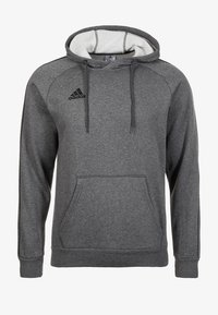 adidas Performance - CORE ELEVEN FOOTBALL HODDIE SWEAT - Kapuzenpullover - grey/black - 0