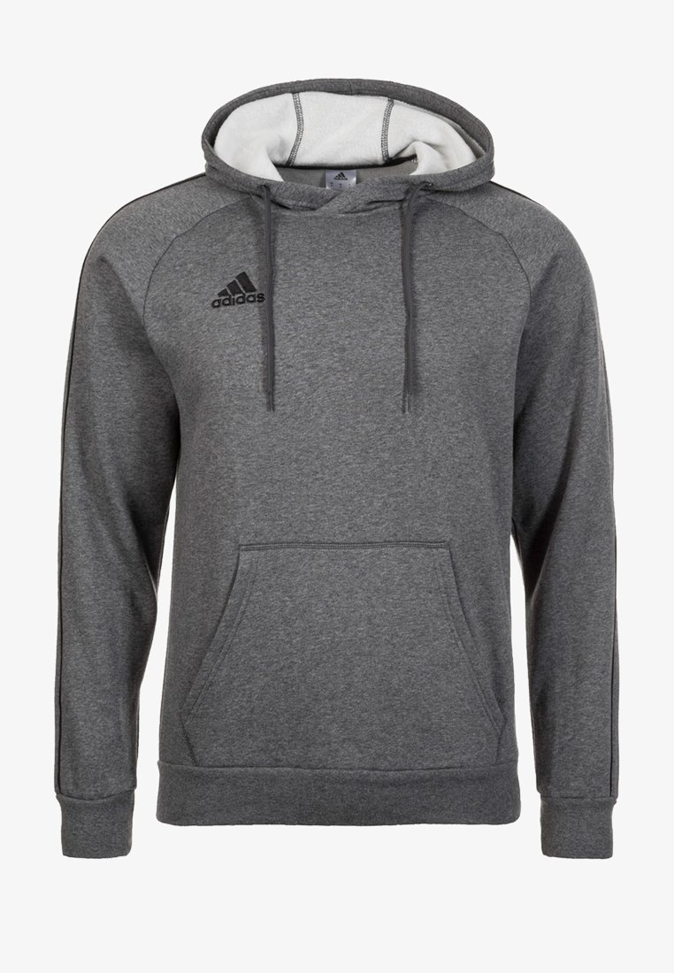 adidas Performance - CORE ELEVEN FOOTBALL HODDIE SWEAT - Kapuzenpullover - grey/black