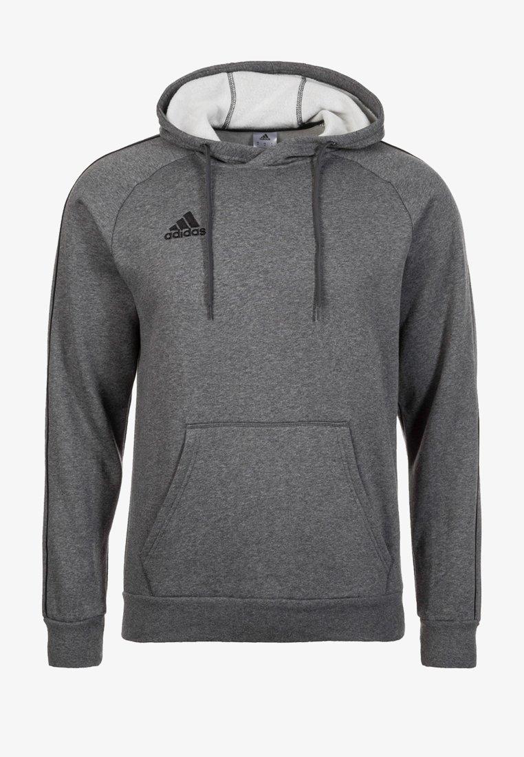 adidas Performance - CORE ELEVEN FOOTBALL HODDIE SWEAT - Felpa con cappuccio - grey/black