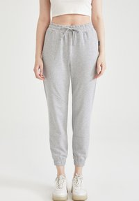 DeFacto - 2 PACK - Tracksuit bottoms - grey - 0