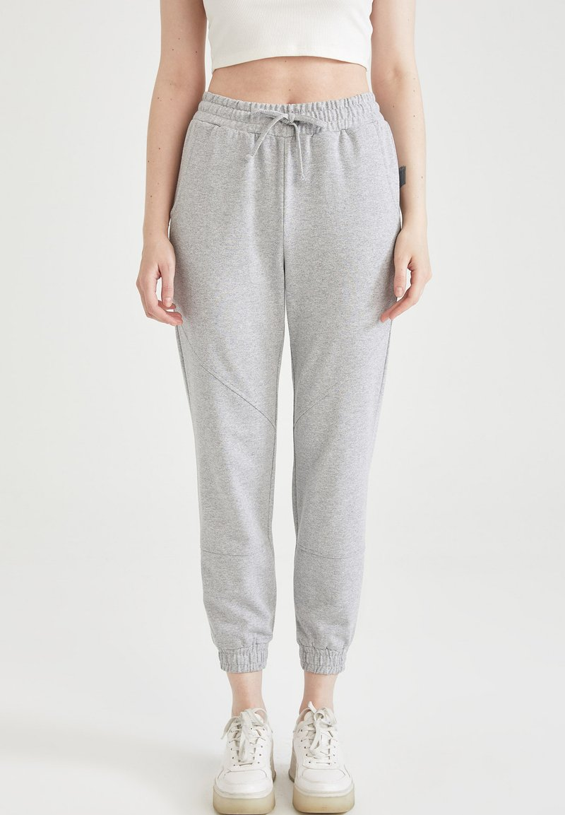 DeFacto - 2 PACK - Tracksuit bottoms - grey