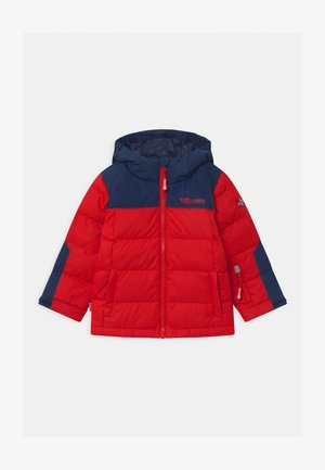 KIDS NARVIK UNISEX - Down jacket - bright red/mystic blue