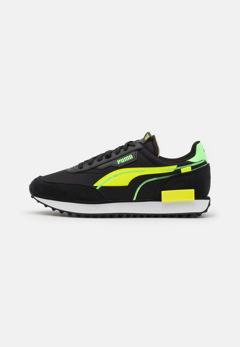 Puma - FUTURE RIDER TWOFOLD UNISEX - Trainers - black/yellow alert