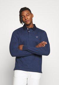 GANT - THE ORIGINAL HEAVY RUGGER - Polo shirt - marine melange - 0