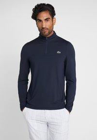 Lacoste Sport - QUARTER ZIP - Sports shirt - navy blue - 0