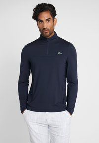Lacoste Sport - QUARTER ZIP - Sportshirt - navy blue - 0