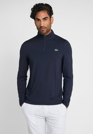 QUARTER ZIP - Sportshirt - navy blue