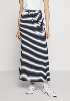 VIDELL - Áčková sukně - navy blazer/snow white