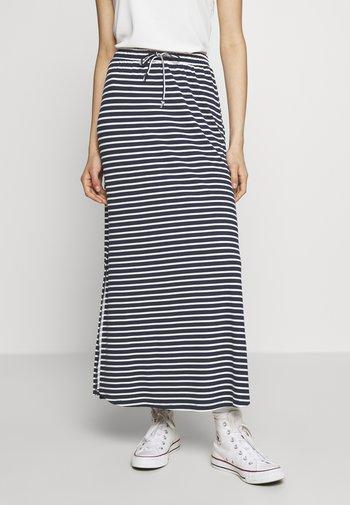 VIDELL MAXI SKIRT - A-line skirt - navy blazer/snow white