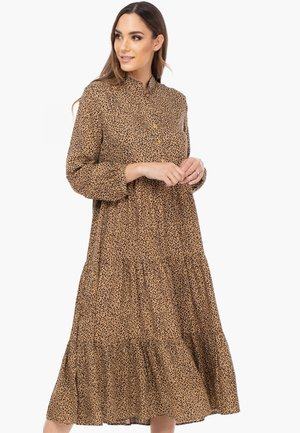 Shirt dress - camel