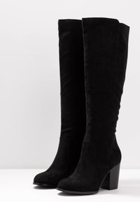 Nly by Nelly - BLOCK KNEE HIGH BOOT - Boots - black - 4