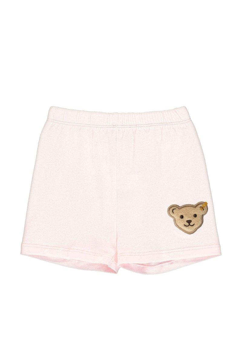 Steiff Collection - STEIFF COLLECTION SHORTS MIT TEDDYBÄRFÖRMIGEN TASCHEN - Shorts - barely pink