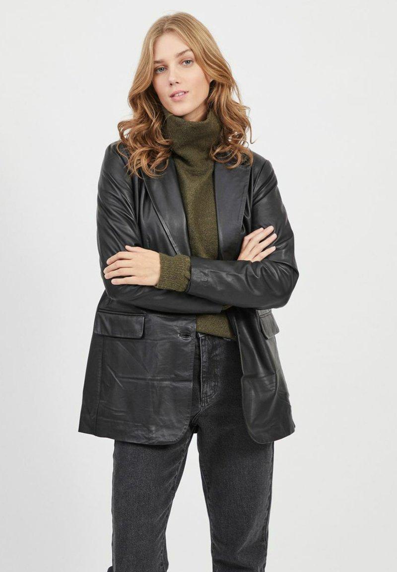 Object - Leather jacket - black