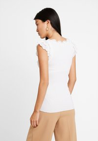 Rosemunde - SILK-MIX TOP REGULAR W/WIDE LACE - Top - new white - 2