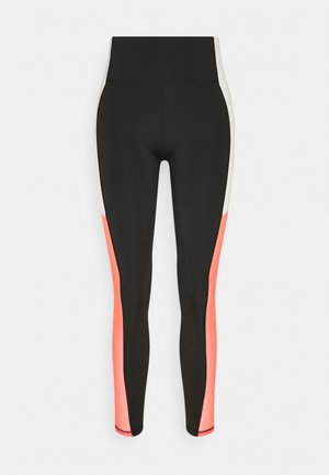 TRAIN BONDED HIGH WAIST FULL - Medias - black/georgia peach