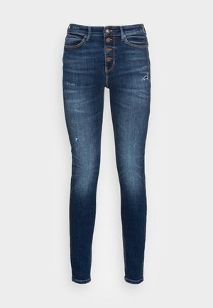 EXPOSED BUTTON - Jeans Skinny Fit - blue river