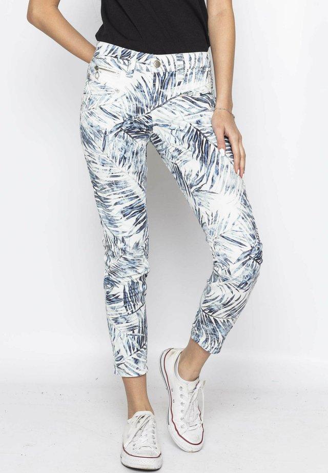 ALEXA - Trousers - white blue palm original