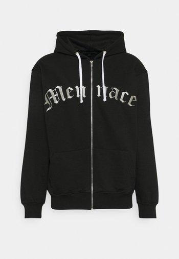 COLLEGIATE EMBROIDERED HOODIE - Zip-up sweatshirt - black