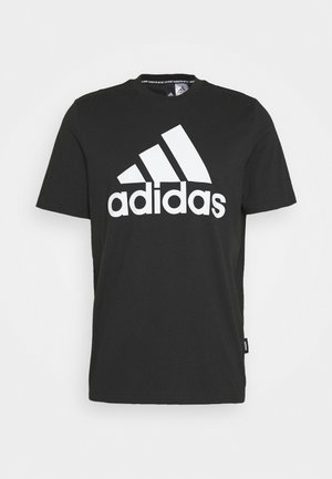 ESSENTIALS SPORTS SHORT SLEEVE TEE - T-shirt print - black
