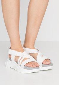 Sportmax - GERLA - Platform sandals - bianco - 0