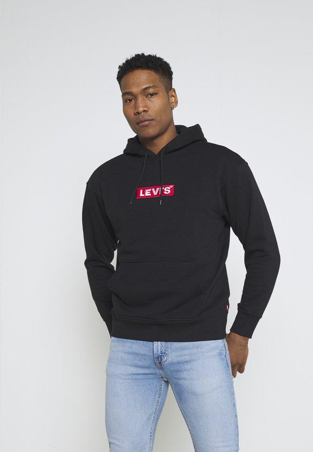 RELAXED GRAPHIC HOODIE UNISEX - Bluza z kapturem - blacks