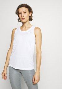 Nike Performance - TANK - Sports shirt - white/black - 0