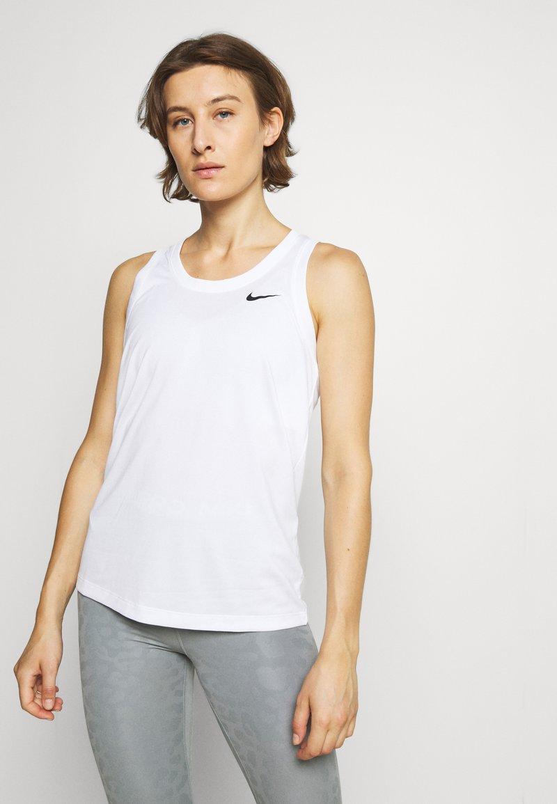 Nike Performance - TANK - Sports shirt - white/black