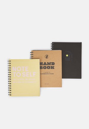 A5 CAMPUS NOTEBOOK 3 PACK UNISEX - Andre accessories - multicoloured