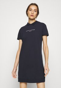 Tommy Hilfiger - LOGO DRESS - Day dress - desert sky - 0