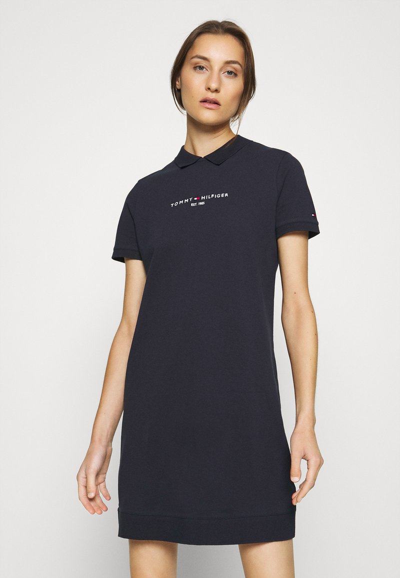 Tommy Hilfiger - LOGO DRESS - Day dress - desert sky
