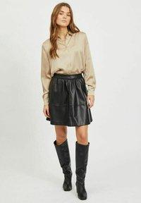 Vila - Button-down blouse - humus - 1