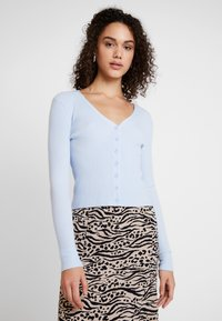 Glamorous - FINE CARDIGAN - Cardigan - light blue - 0