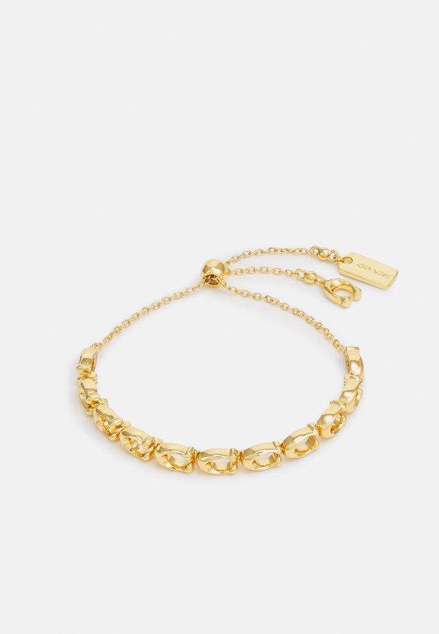C CHAIN LINK FRIENSHIP SLIDER BRACELET - Bracelet - gold-coloured