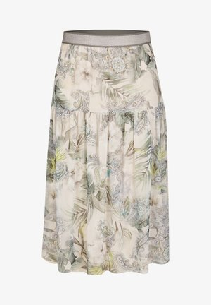 MIT PAISLEY-MUSTER UND GLITZERDETAILS - A-line skirt - light green