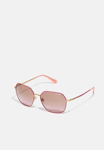 Sunglasses - pink/gold-coloured