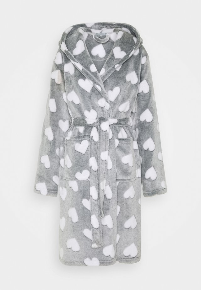 HEART LUXURY HOODED ROBE - Badekåpe - grey