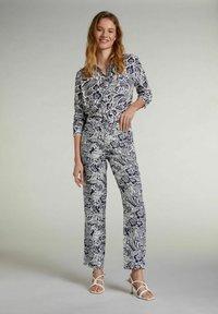 Oui - Button-down blouse - white blue - 1